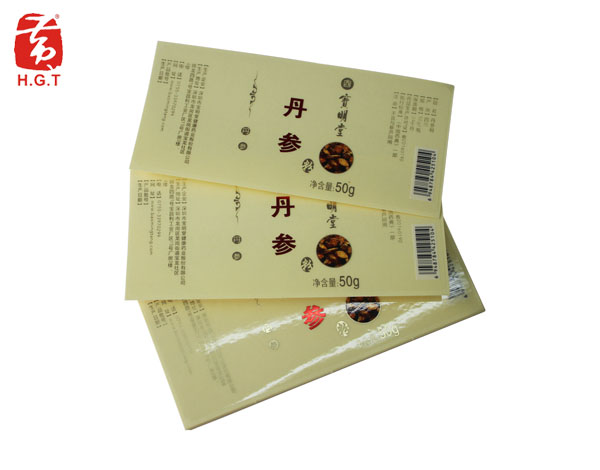 黄港同透明保键食品标签印刷