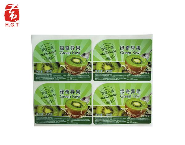 黄港同商场水果标签印刷
