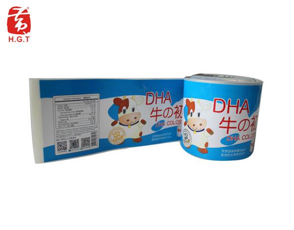 黄港同牛奶食品标签定制印刷